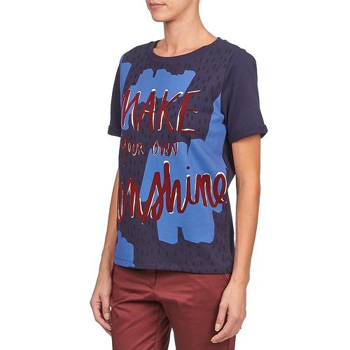 shirt T Edith Maniche Kookaï Corte Marine CoWdEBrxQe