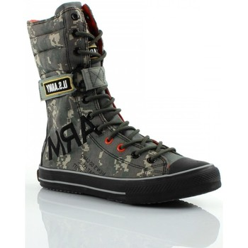 Scarpe Uomo Sneakers alte Us Army Combat Camouflage