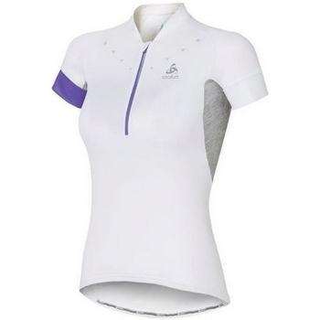Abbigliamento Donna T-shirt maniche corte Odlo Stand-Up Collar Short Sleeve 1/2 Zip Isola 410911-10000 White