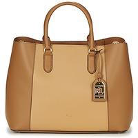 Borse Donna Borse a mano Lauren Ralph Lauren DRYDEN MARCY TOTE Cognac / Camel