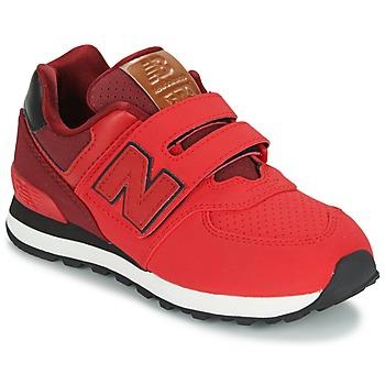 Scarpe Bambino Sneakers basse New Balance KV575 Rosso / Nero