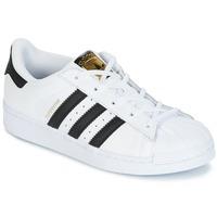 Scarpe Bambino Sneakers basse adidas Originals SUPERSTAR Bianco / Nero