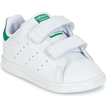 Scarpe Bambino Sneakers basse adidas Originals STAN SMITH CF I Bianco / Verde