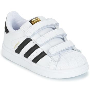 Scarpe Unisex bambino Sneakers basse adidas Originals SUPERSTAR CF I Bianco / Nero