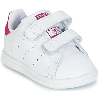 Scarpe Bambina Sneakers basse adidas Originals STAN SMITH CF I Bianco / Rosa