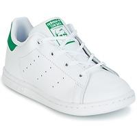 Scarpe Unisex bambino Sneakers basse adidas Originals STAN SMITH I Bianco / Verde