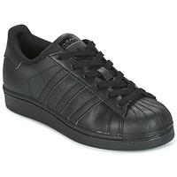 Scarpe Unisex bambino Sneakers basse adidas Originals SUPERSTAR Nero