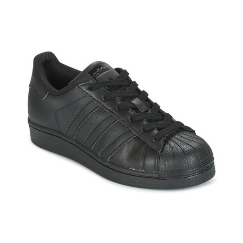 hot sale online ce68a 69baf Scarpe Unisex bambino Sneakers basse adidas Originals SUPERSTAR Nero