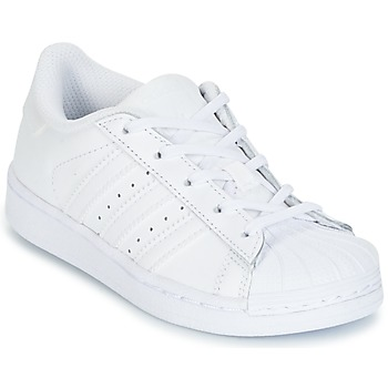 Scarpe Bambina Sneakers basse adidas Originals SUPERSTAR Bianco