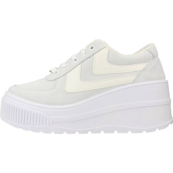 Scarpe Donna Sneakers basse Yellow FAMOUS Bianco