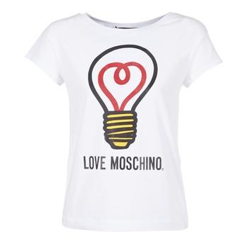 Abbigliamento Donna T-shirt maniche corte Love Moschino W4F3038E1512 Bianco