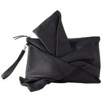 Borse Donna Borse Rue Bisquit Leather clutch with bow black