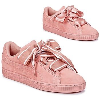 Scarpe Donna Sneakers basse Puma Basket Heart Satin Rosa