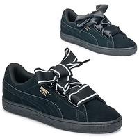 Scarpe Donna Sneakers basse Puma Basket Heart Satin Nero