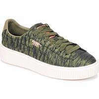 Scarpe Donna Sneakers basse Puma Basket Platform Bi Color KAKI