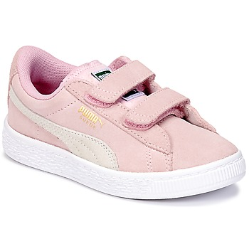 Scarpe Bambina Sneakers basse Puma SUEDE 2 STRAPS PS Rosa