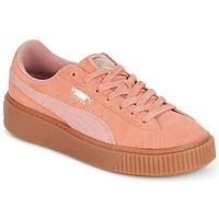 Scarpe Donna Sneakers basse Puma Suede Platform Core Gum Rosa