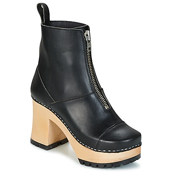 Scarpe Donna Stivaletti Swedish hasbeens GRUNGE BOOT BLACK Nero