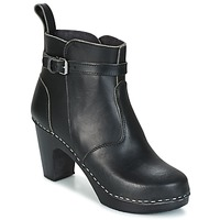 Scarpe Donna Stivaletti Swedish hasbeens HIGH HEELED JODHPUR Nero