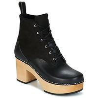 Scarpe Donna Stivaletti Swedish hasbeens HIPPIE LACE UP Nero
