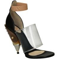 Scarpe Donna Sandali Givenchy Sandali con tacco  in pelle di vitello nero