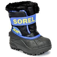 Scarpe Bambino Stivali da neve Sorel CHILDRENS SNOW COMMANDER Nero / Blu