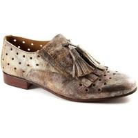 Scarpe Donna Richelieu Mat:20 3017 chivas miele bronzo scarpe donna forate slip on frangia Beige