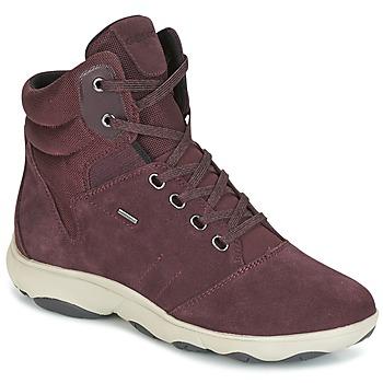 Scarpe Donna Sneakers alte Geox D NEBULA 4 X 4 B ABX BORDEAUX