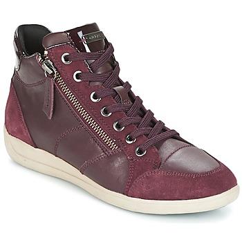 Scarpe Donna Sneakers alte Geox D MYRIA BORDEAUX