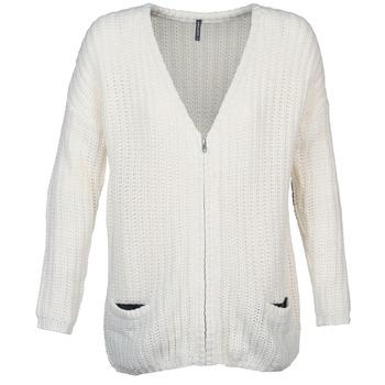 Abbigliamento Donna Gilet / Cardigan Naf Naf MEDEN Ecru
