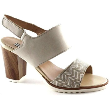 Scarpe Donna Sandali Grunland LETA SA1545 beige sandali donna fascie pelle strappo tacco Beige