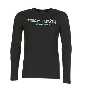 Abbigliamento Uomo T-shirts a maniche lunghe Teddy Smith TICLASS 3 ML Nero