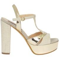Scarpe Donna Sandali Silvana 709 Sandalo Elegante Donna Platino Platino