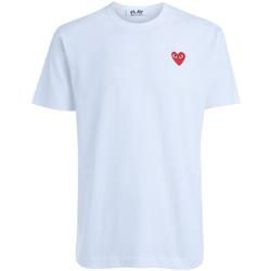 Abbigliamento Donna T-shirt maniche corte Comme Des Garcons T-shirt da uomo girocollo bianca Bianco