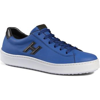 Scarpe Uomo Sneakers basse Hogan Sneakers  h302 realizzate in pelle celeste blu