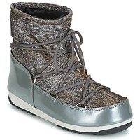 Scarpe Donna Stivali da neve Moon Boot MOON BOOT WE LOW LUREX Grigio / Argento