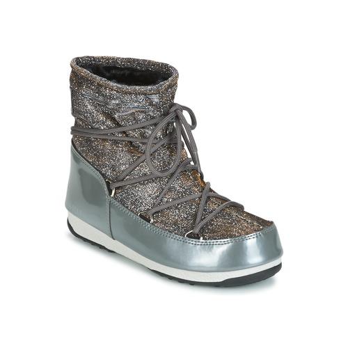 Moon Boot MOON BOOT LOW LUREX Grigio / Argento  Scarpe Stivali da neve Donna 127,90