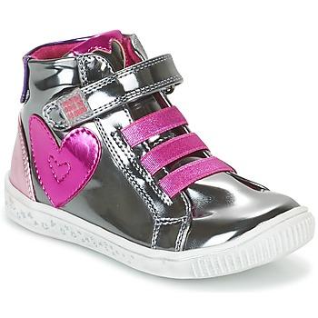 Scarpe Bambina Sneakers alte Agatha Ruiz de la Prada FLOW Argento