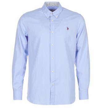 Abbigliamento Uomo Camicie maniche lunghe U.S Polo Assn. CALE Blu