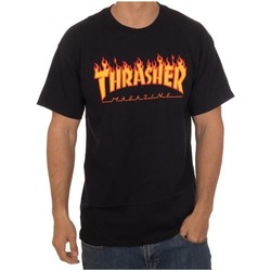 Abbigliamento Uomo T-shirt maniche corte Thrasher CAMISETA  FLAME LOGO NEGRA HOMBR Nero
