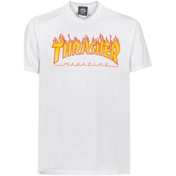 Abbigliamento Uomo T-shirt maniche corte Thrasher CAMISETA  FLAME LOGO BLANCO HOMB Bianco