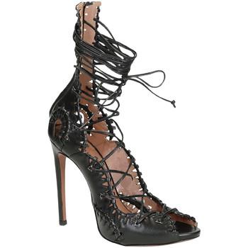 Scarpe Donna Sandali Alaa Sandali tacco alto  in pelle di vitello nero