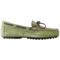 Scarpe Uomo Classiche basse Frau Suede Green Loafers with laces