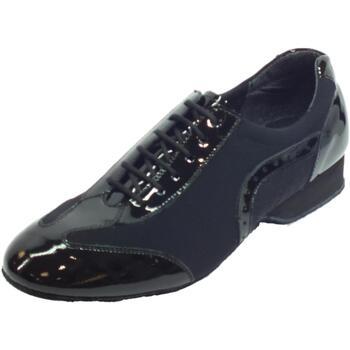 Scarpe Uomo Sandali sport Vitiello Dance Shoes Scarpa da ballo per uomo in tessuto elasticizzato e vernice nera nero