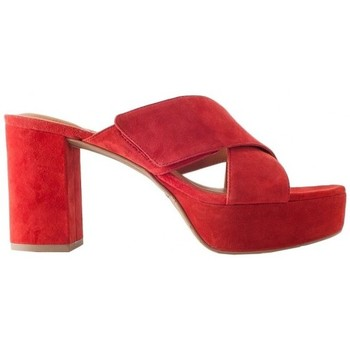 Scarpe Donna Classiche basse What For Red suede braided slippers