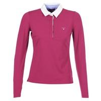 Abbigliamento Donna Polo maniche lunghe Gant SOLID JERSEY LS RUGGER Rosa