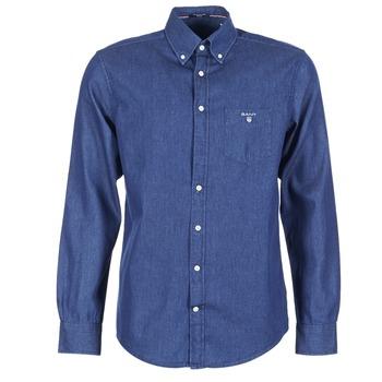 Abbigliamento Uomo Camicie maniche lunghe Gant THE INDIGO SHIRT Blu
