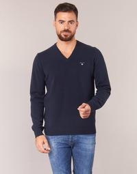 Abbigliamento Uomo Maglioni Gant SUPER FINE LAMBSWOOL V-NECK Marine