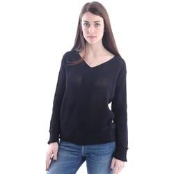 Abbigliamento Donna Maglioni Lorena Antoniazzi MAGLIA  IN COTONE LAVORATO NERO Black