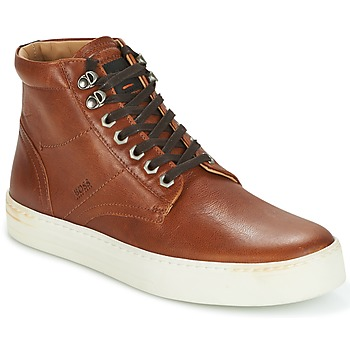 Scarpe Uomo Sneakers alte Hugo Boss Orange NOIR HALB LTWS COGNAC
